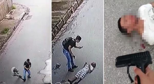 Bandido tenta assaltar jovem com arma de brinquedo e acaba nocauteado no asfalto; veja o vídeo
