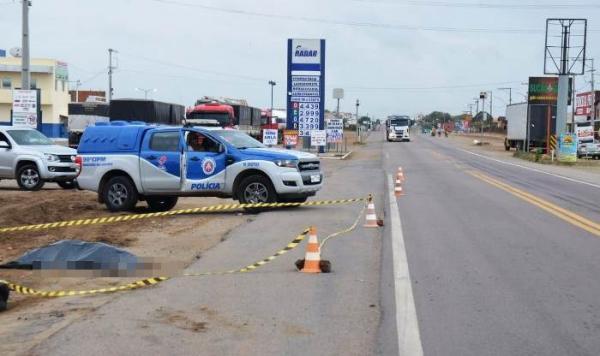 Homem morre depois de ser atropelo na BR 324 em Riachão do Jacuípe