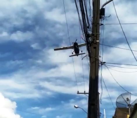 Monomotor causa pânico em cidade no interior da Bahia, veja o vídeo