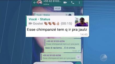 Servidor público é chamado de 'chimpanzé' em app depois de compartilhar vídeo em grupo