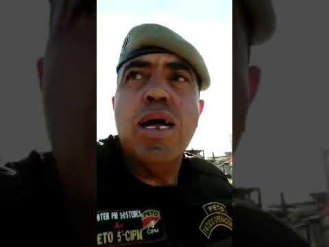 PM grava vídeo após ameaça de traficante; 'esperando ele botar a cara no sol'